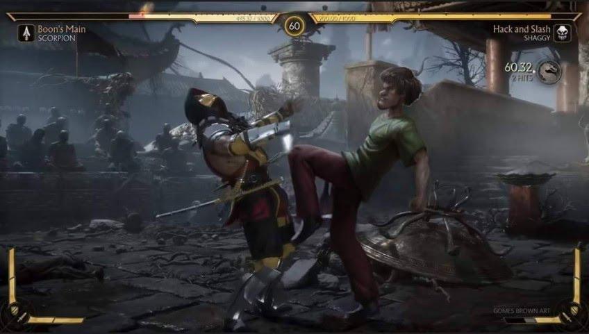 В новом мульфильме Mortal Kombat обыграли мем с Шэгги из «Скуби-Ду»